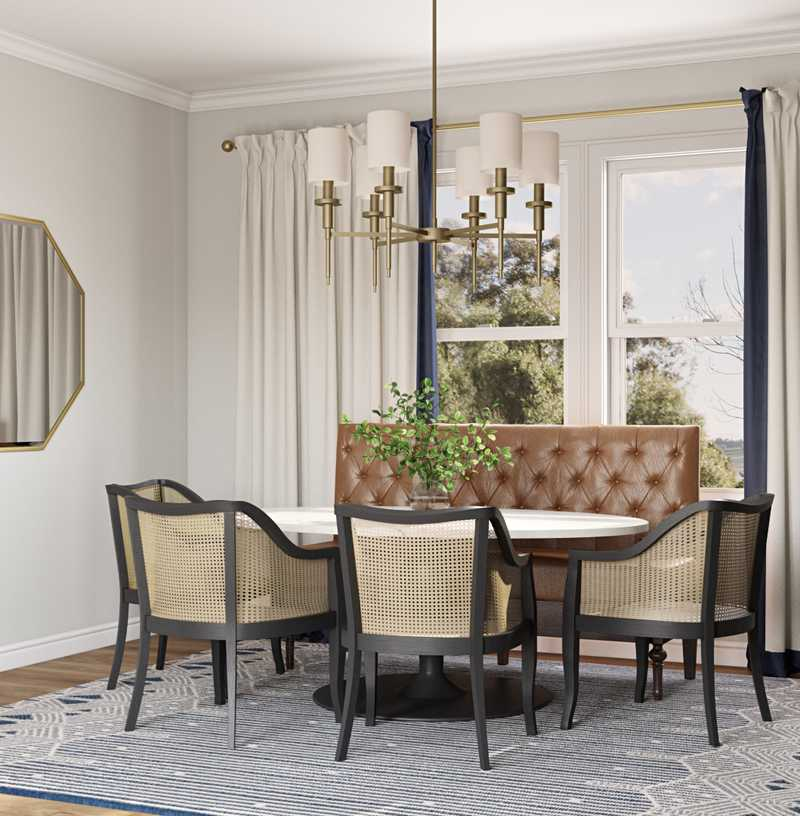 Classic, Glam, Transitional Dining Room Design by Havenly Interior Designer Linlee