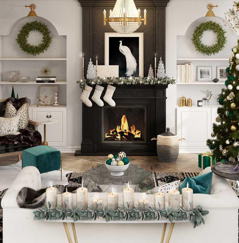 Contemporary, Classic, Glam  Design by Havenly Interior Designer Lyndsi
