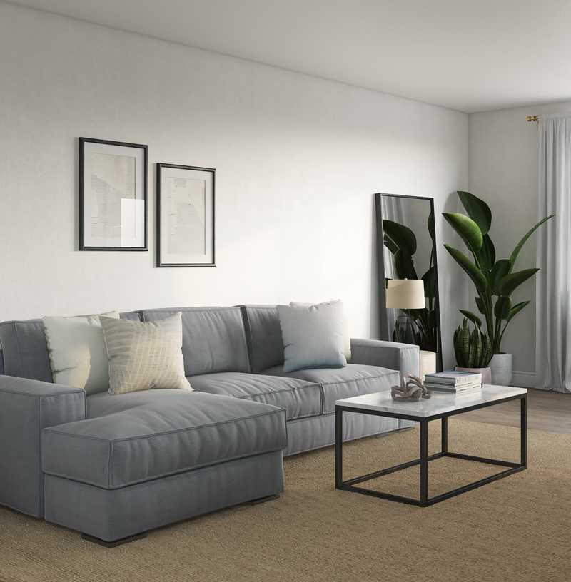 Contemporary, Minimal, Scandinavian Living Room Design by Havenly Interior Designer Sarah