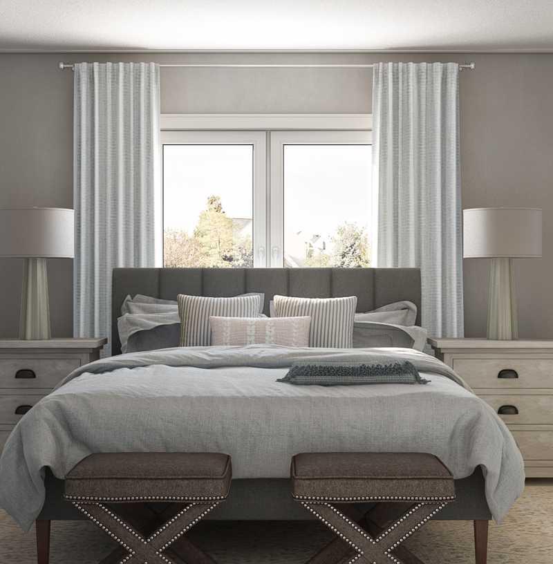 Contemporary, Coastal Bedroom Design by Havenly Interior Designer Allison