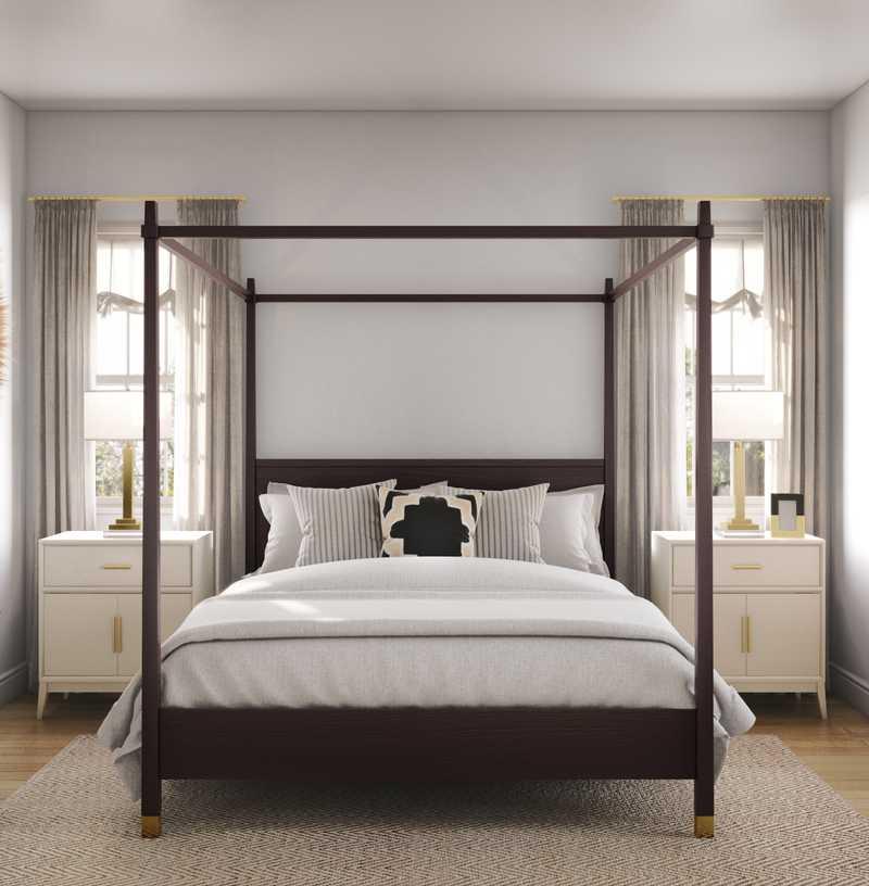 Bohemian, Coastal, Classic Contemporary, Scandinavian Bedroom Design by Havenly Interior Designer Maria