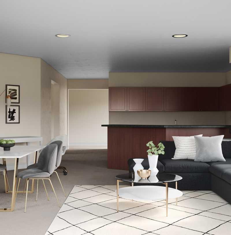 Modern, Bohemian, Glam Living Room Design by Havenly Interior Designer Andrea