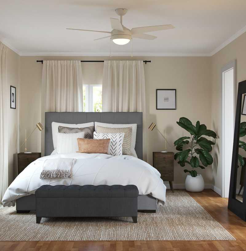 Glam, Transitional Bedroom Design by Havenly Interior Designer Amy