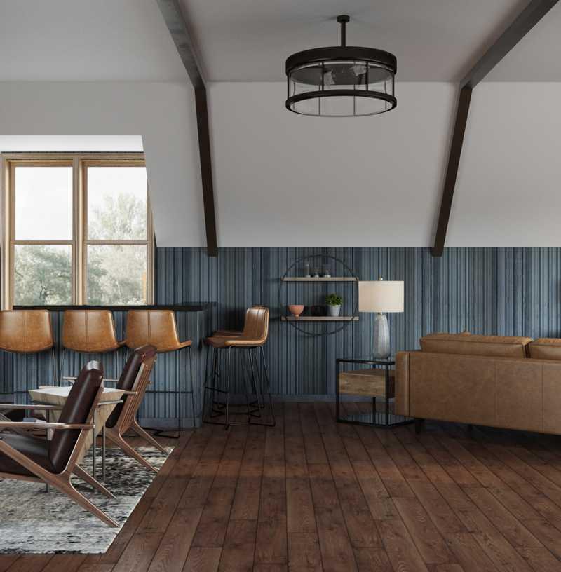 Modern, Industrial, Rustic Living Room Design by Havenly Interior Designer Giacinto