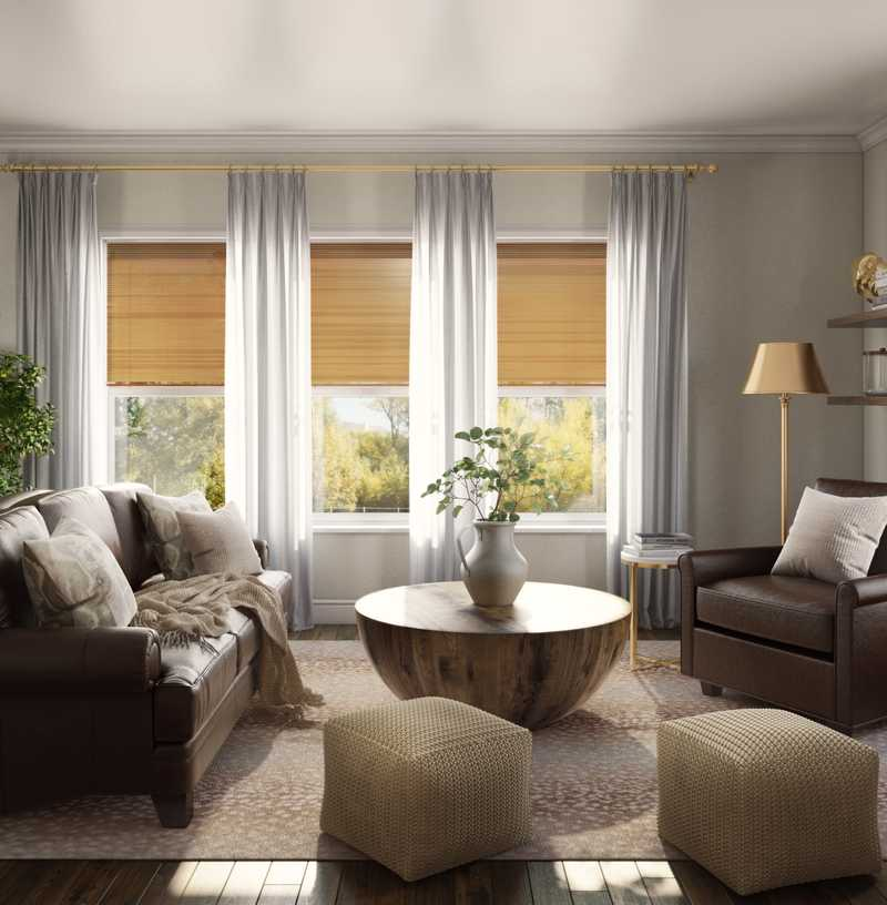 Traditional, Rustic, Transitional, Country, Classic Contemporary Living Room Design by Havenly Interior Designer Lisa