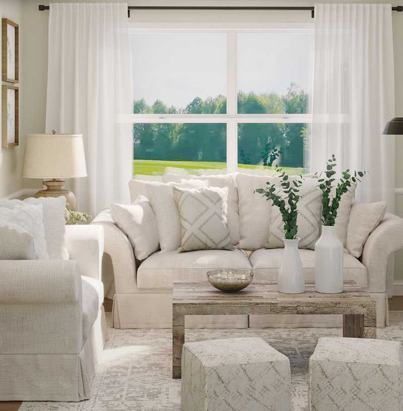 Classic, Farmhouse, Rustic Living Room Design by Havenly Interior Designer Meredith