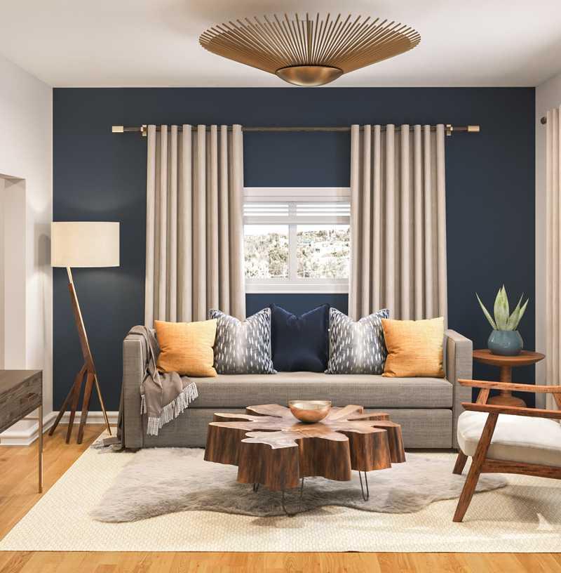 Bohemian, Midcentury Modern Office Design by Havenly Interior Designer Jessica