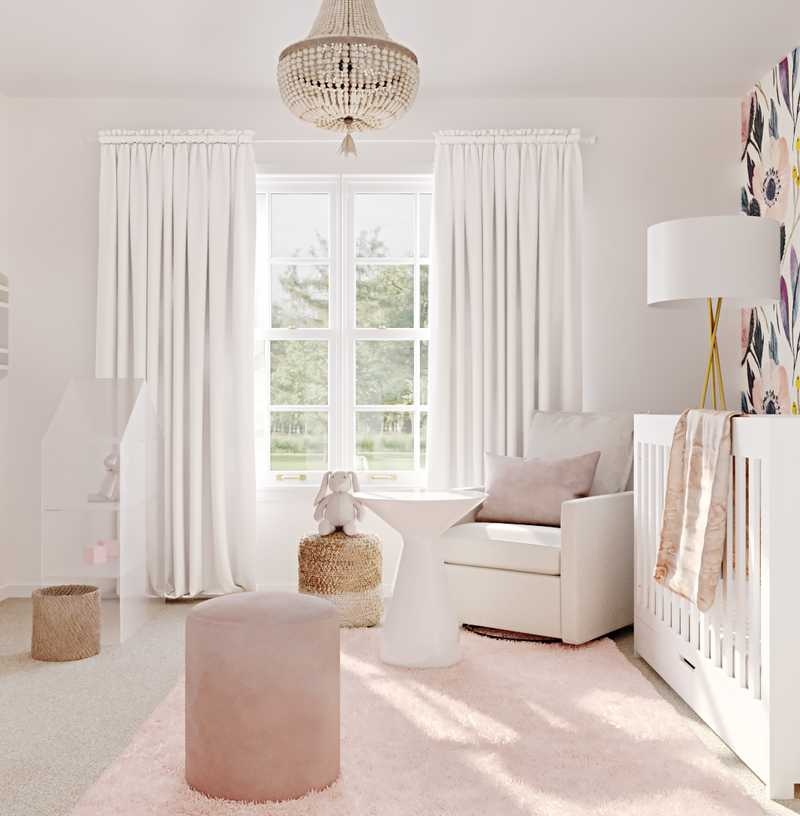 Modern, Glam Nursery Design by Havenly Interior Designer Sarah