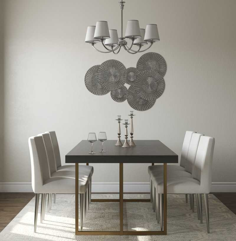 Contemporary, Modern, Glam, Classic Contemporary Dining Room Design by Havenly Interior Designer Fiona