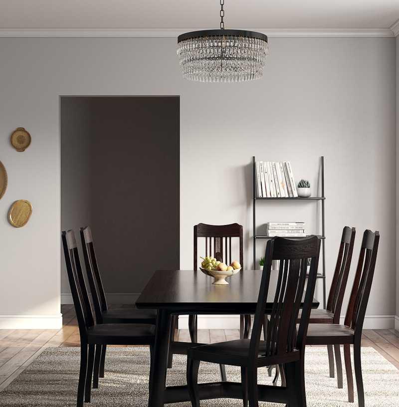 Bohemian, Midcentury Modern Dining Room Design by Havenly Interior Designer Jessica
