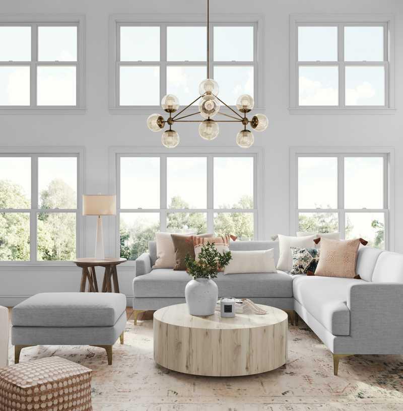 Classic, Coastal, Transitional Living Room Design by Havenly Interior Designer Sarah