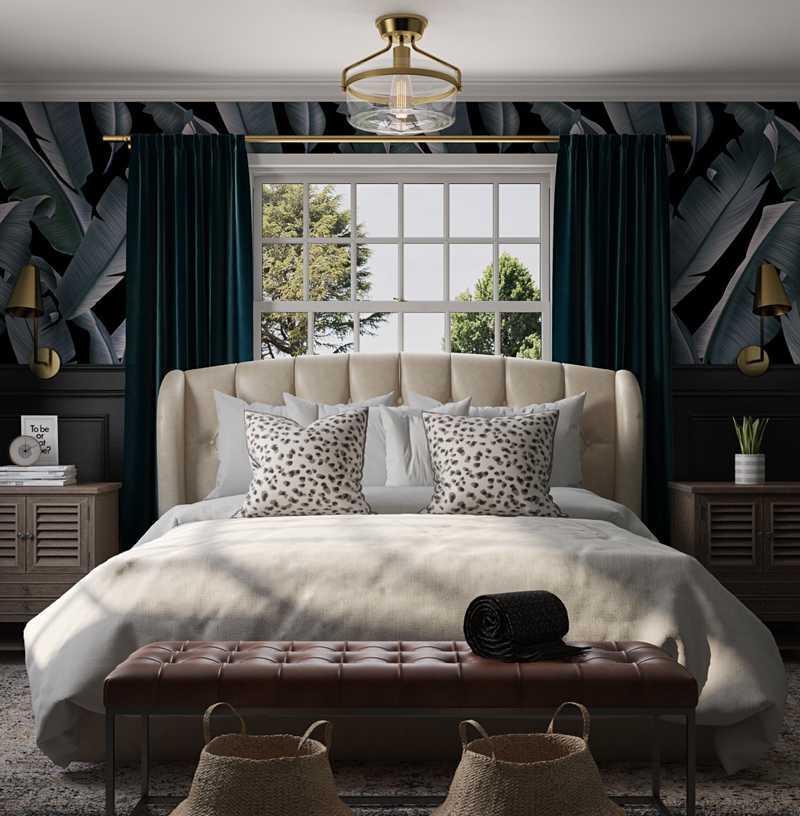 Modern, Eclectic, Glam, Transitional, Vintage, Midcentury Modern Bedroom Design by Havenly Interior Designer Jess