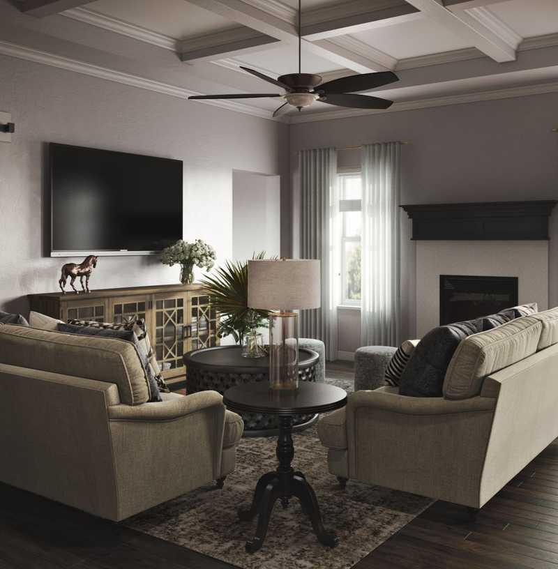 Farmhouse, Rustic Living Room Design by Havenly Interior Designer Maggie