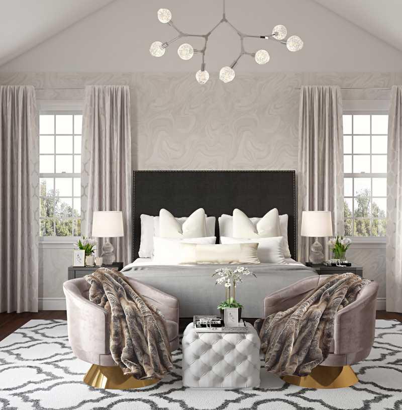 Contemporary, Eclectic, Glam Bedroom Design by Havenly Interior Designer Sophia