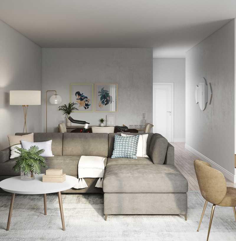 Contemporary, Modern Living Room Design by Havenly Interior Designer Maria