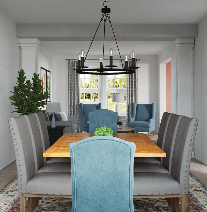 Transitional Dining Room Design by Havenly Interior Designer Michelle