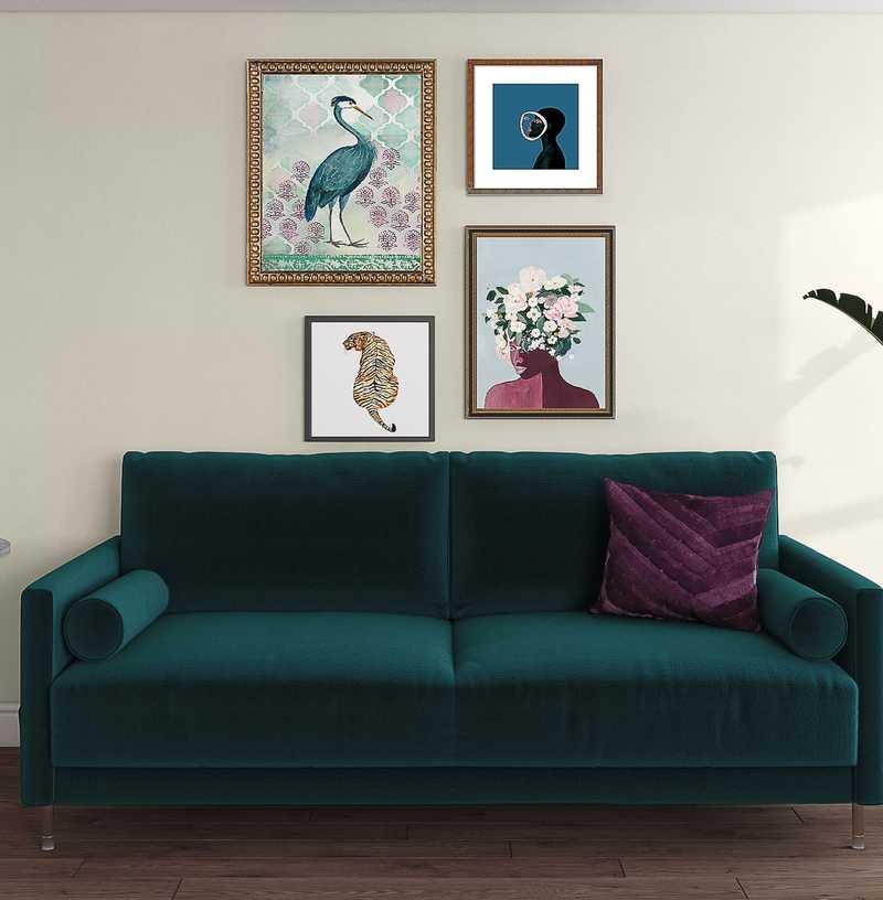 Modern, Eclectic Living Room Design by Havenly Interior Designer Katie