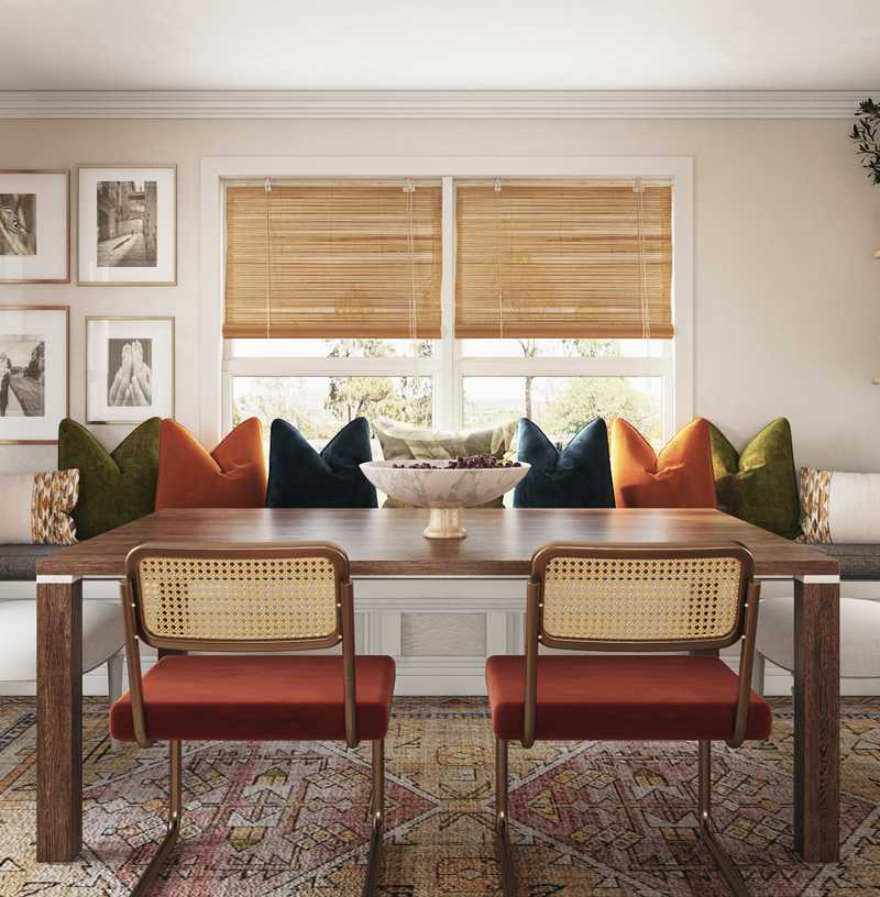 Bohemian, Traditional, Midcentury Modern Dining Room Design by Havenly Interior Designer Jessica