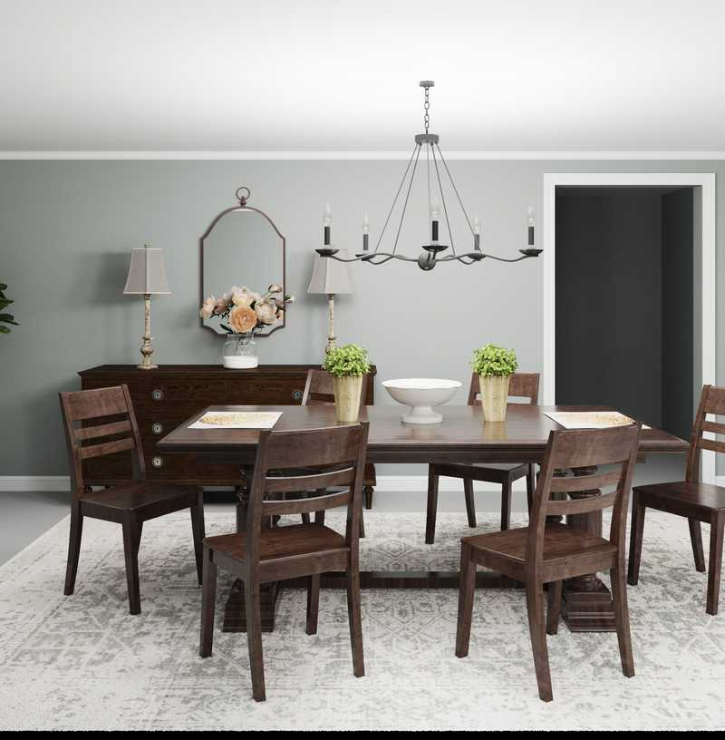 Classic, Traditional, Farmhouse Dining Room Design by Havenly Interior Designer Adrian