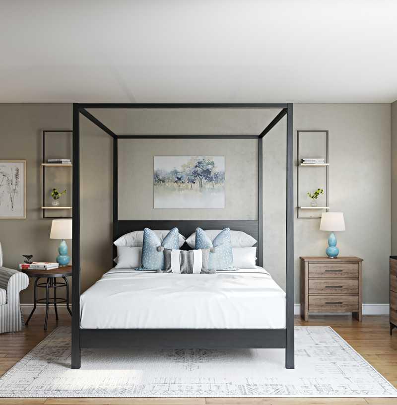 Farmhouse Bedroom Design by Havenly Interior Designer Roxy