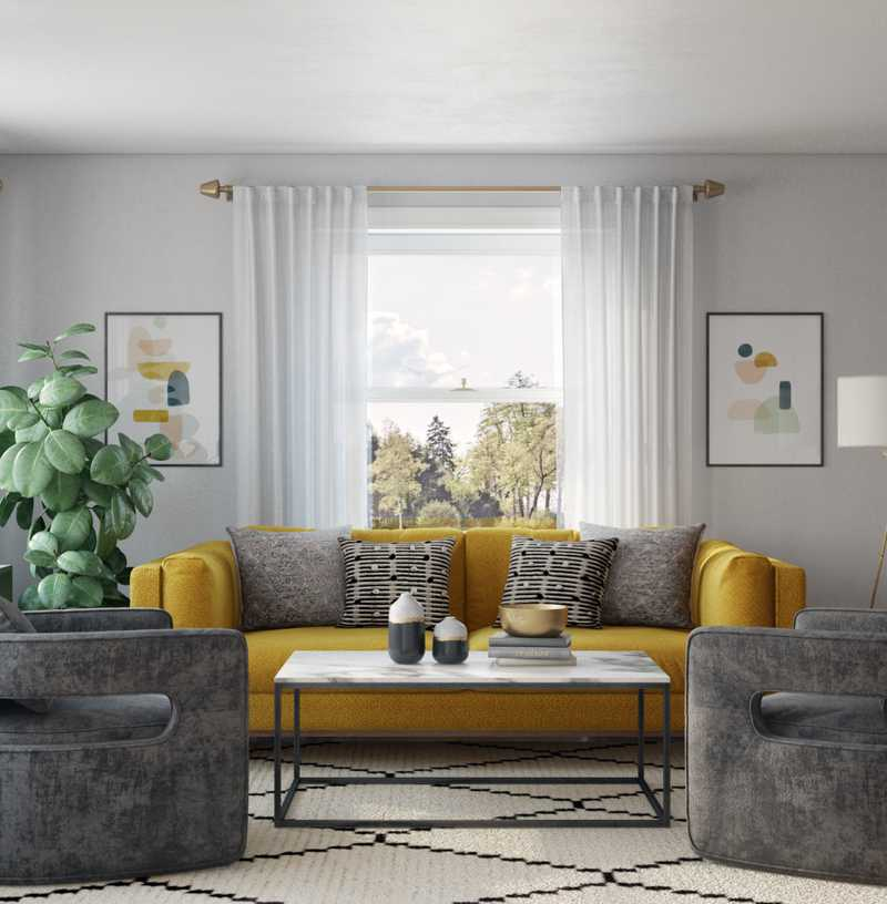 Modern, Eclectic Living Room Design by Havenly Interior Designer Shauna