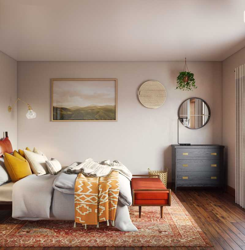 Bohemian, Rustic, Southwest Inspired Bedroom Design by Havenly Interior Designer Catrina