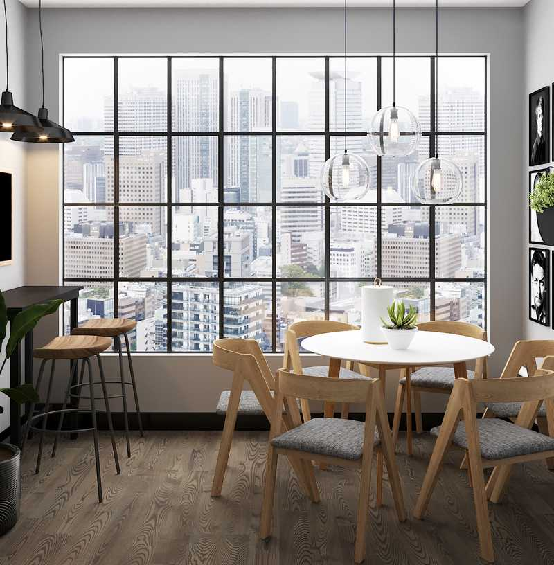 Industrial, Midcentury Modern Dining Room Design by Havenly Interior Designer Tori