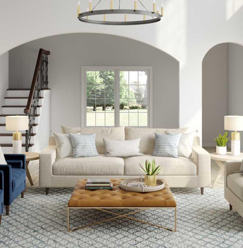 Contemporary, Modern, Farmhouse, Minimal, Scandinavian Living Room Design by Havenly Interior Designer Tara