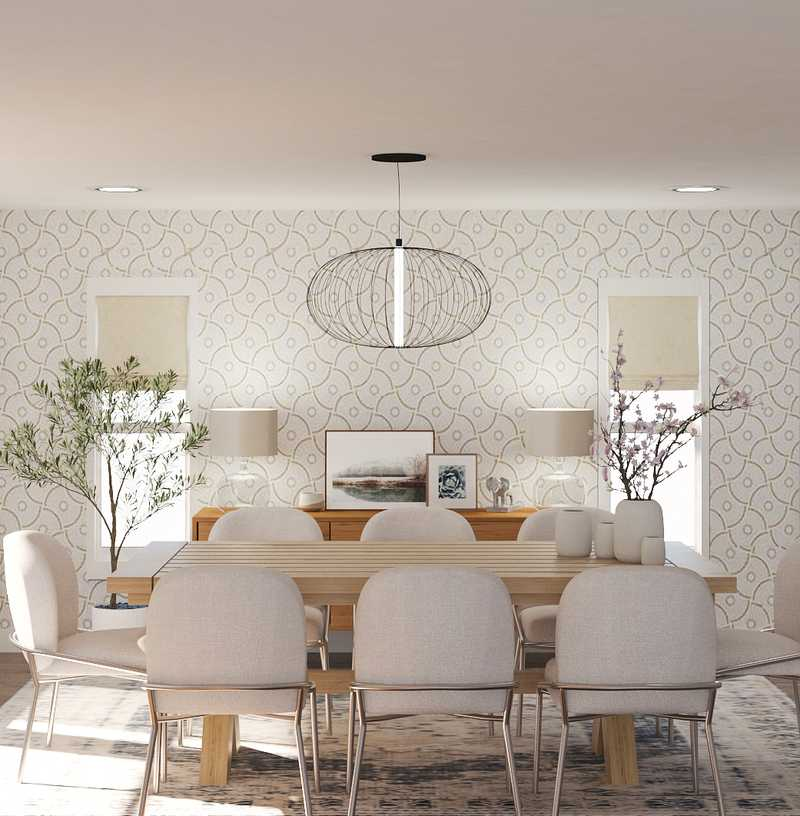 Midcentury Modern, Scandinavian Dining Room Design by Havenly Interior Designer Ana