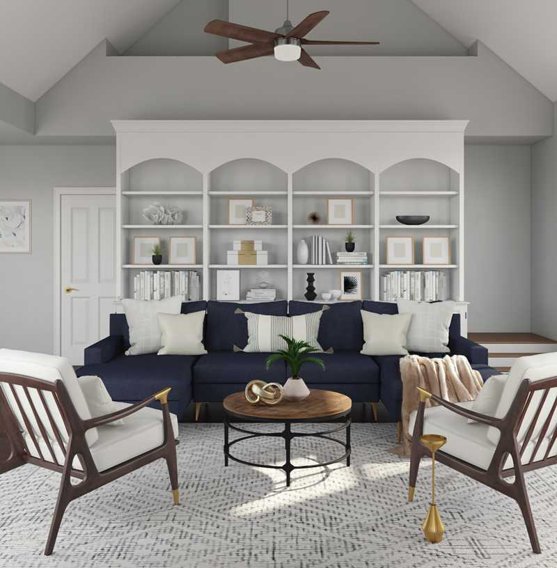 Contemporary, Modern, Glam Living Room Design by Havenly Interior Designer Dani