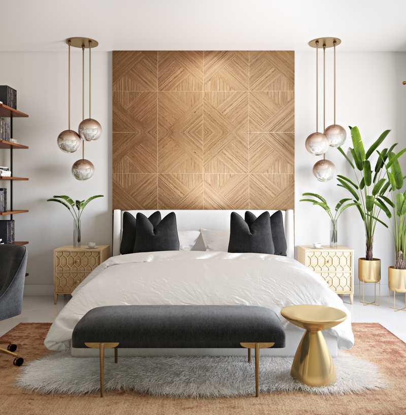 Contemporary, Modern, Glam Bedroom Design by Havenly Interior Designer Julio