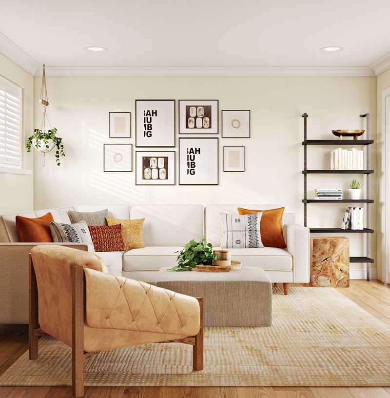 Modern, Rustic, Midcentury Modern Living Room Design by Havenly Interior Designer Matthew