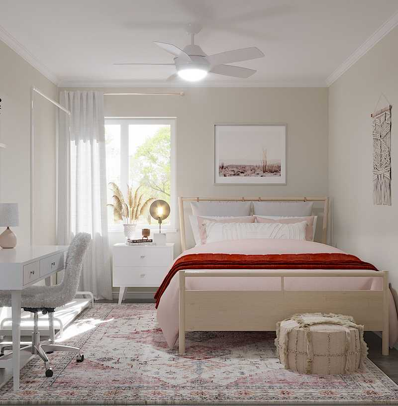 Eclectic, Bohemian Bedroom Design by Havenly Interior Designer Sarah