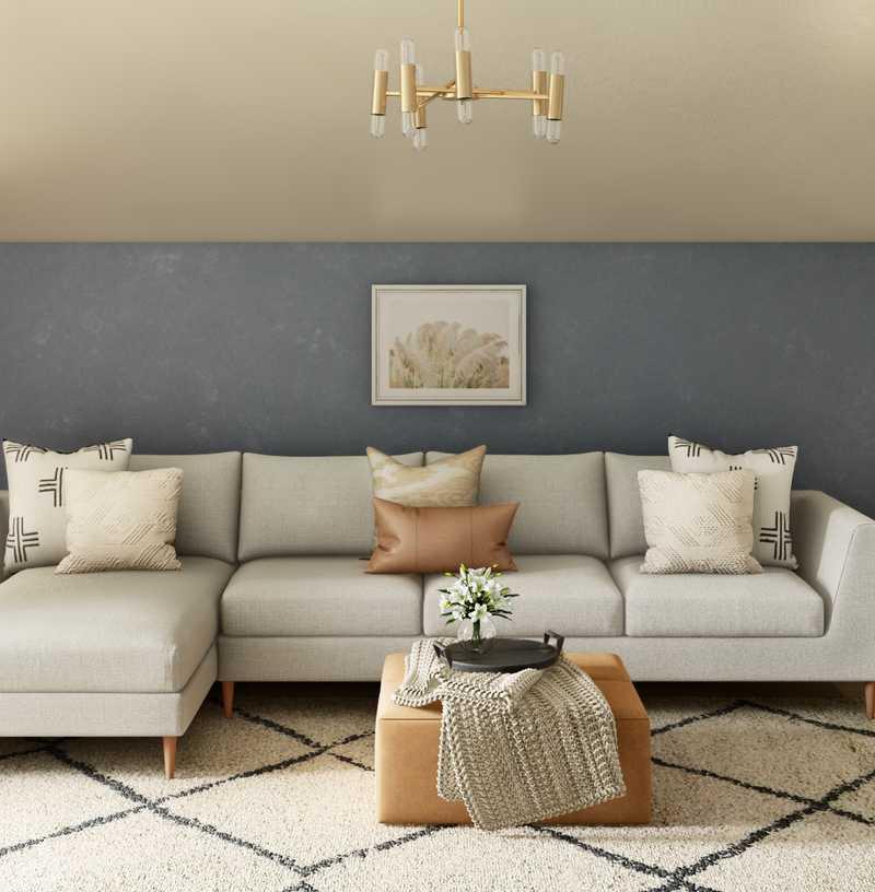 Bohemian, Coastal, Scandinavian Living Room Design by Havenly Interior Designer Corey