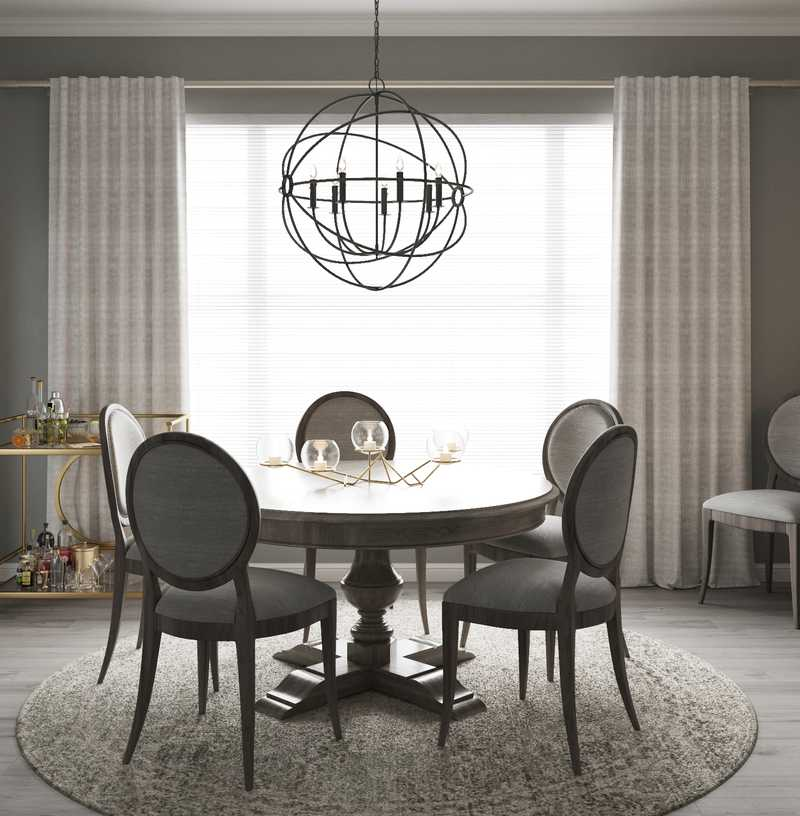 Contemporary, Classic, Traditional Dining Room Design by Havenly Interior Designer Laura