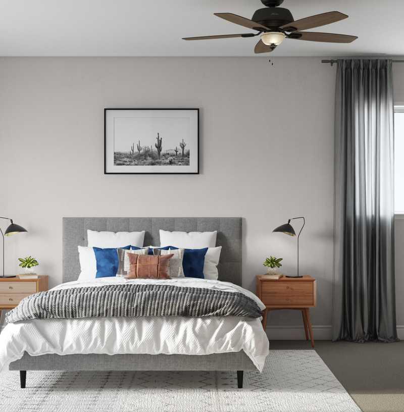 Modern, Midcentury Modern Bedroom Design by Havenly Interior Designer Fendy
