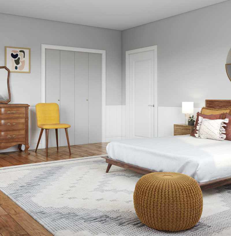 Modern, Southwest Inspired, Midcentury Modern Bedroom Design by Havenly Interior Designer Megan