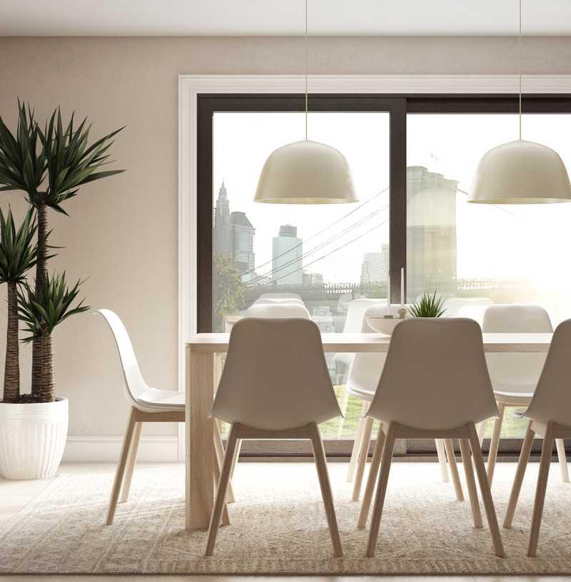 Modern, Scandinavian Dining Room Design by Havenly Interior Designer Kyla