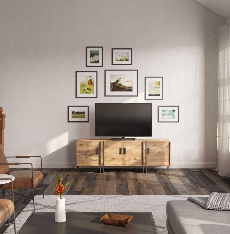Modern, Industrial, Rustic Living Room Design by Havenly Interior Designer Nicole