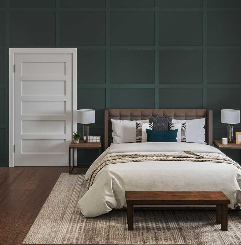 Industrial, Farmhouse, Rustic, Transitional, Vintage Bedroom Design by Havenly Interior Designer Lyndsi