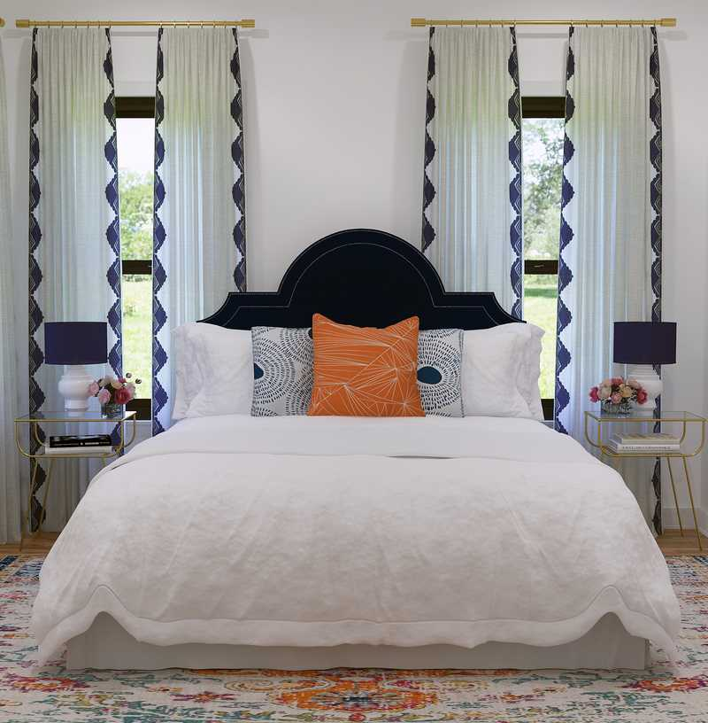 Modern, Classic, Preppy Bedroom Design by Havenly Interior Designer Emerie