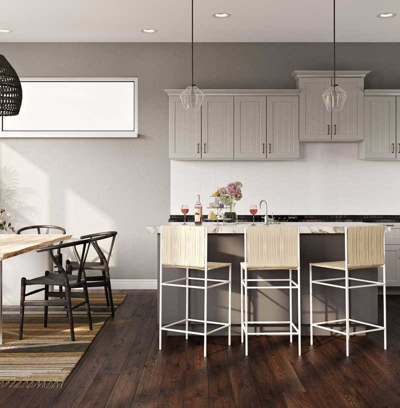 Modern, Minimal Dining Room Design by Havenly Interior Designer Freddi