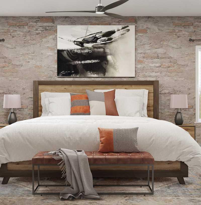 Industrial, Farmhouse, Rustic Bedroom Design by Havenly Interior Designer Austin