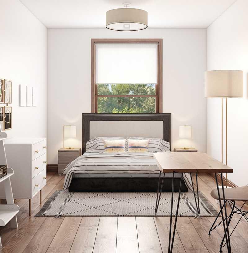 Contemporary, Modern, Bohemian, Midcentury Modern, Scandinavian Bedroom Design by Havenly Interior Designer Han