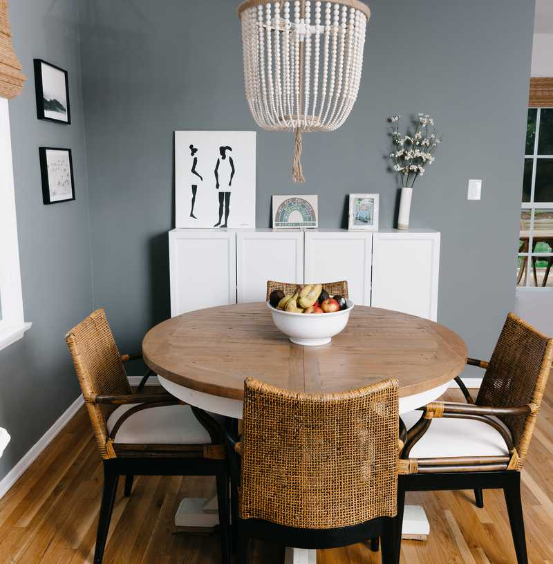 Modern, Eclectic, Bohemian Dining Room Design by Havenly Interior Designer Sarah