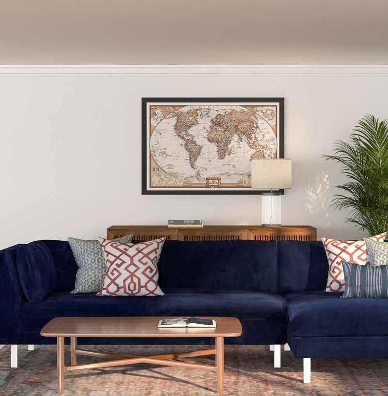 Modern, Industrial, Global Living Room Design by Havenly Interior Designer Elyse