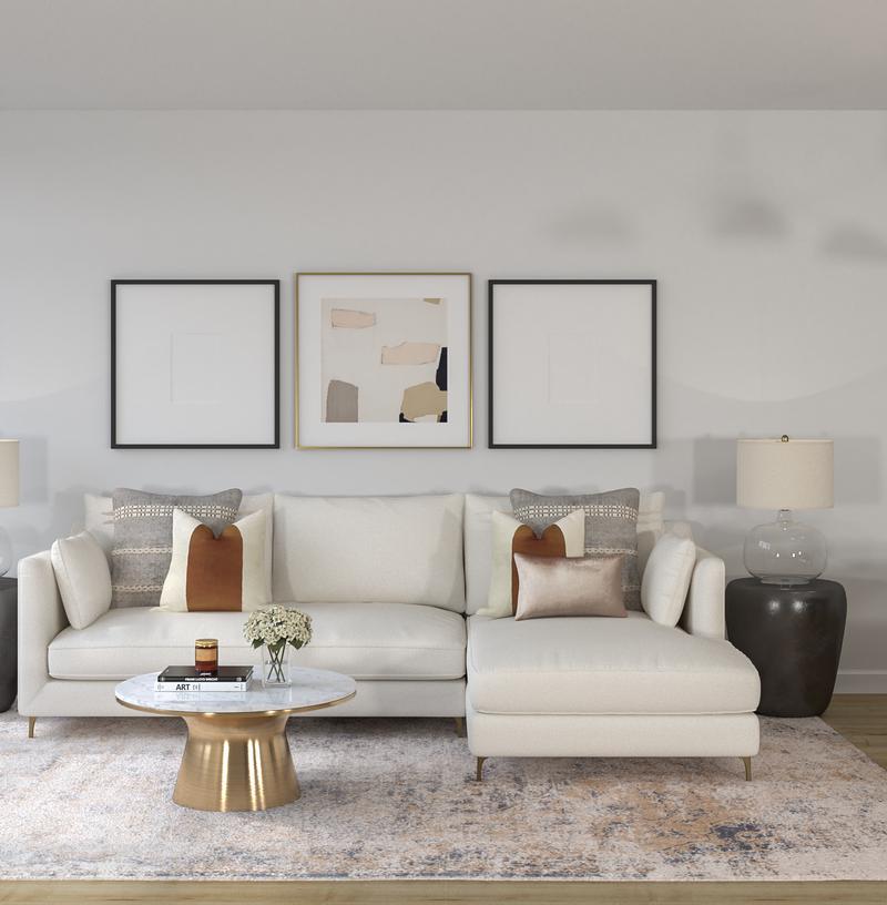 Modern, Eclectic, Bohemian, Global Living Room Design by Havenly Interior Designer Kelcy