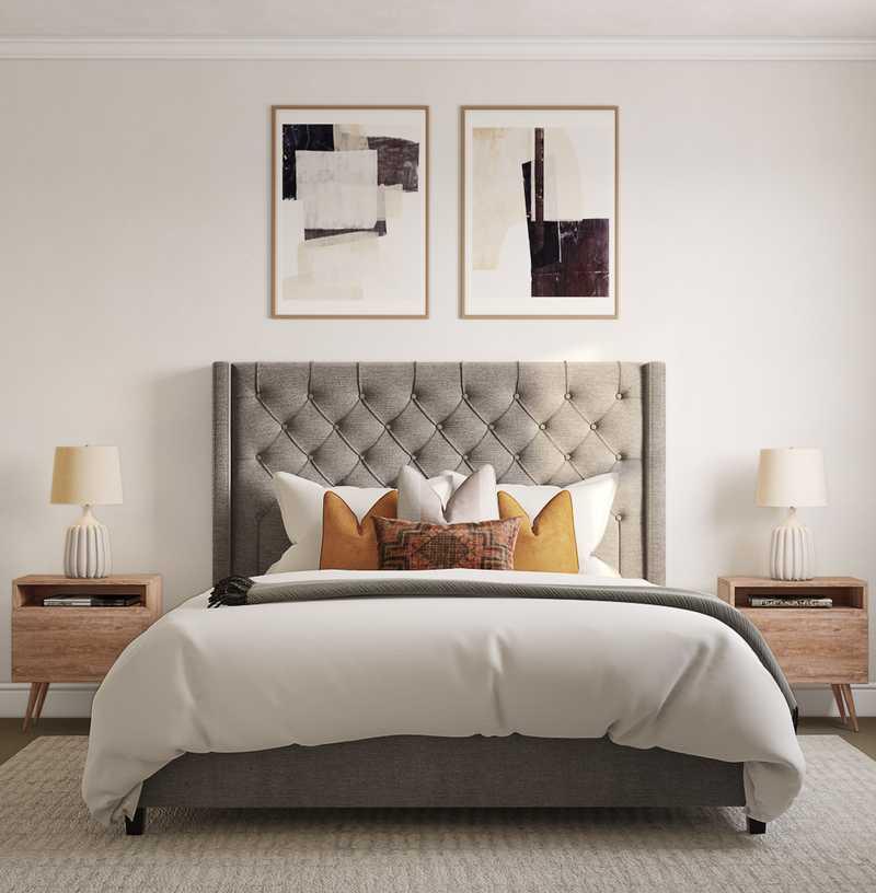 Modern, Midcentury Modern, Minimal Bedroom Design by Havenly Interior Designer Jennifer