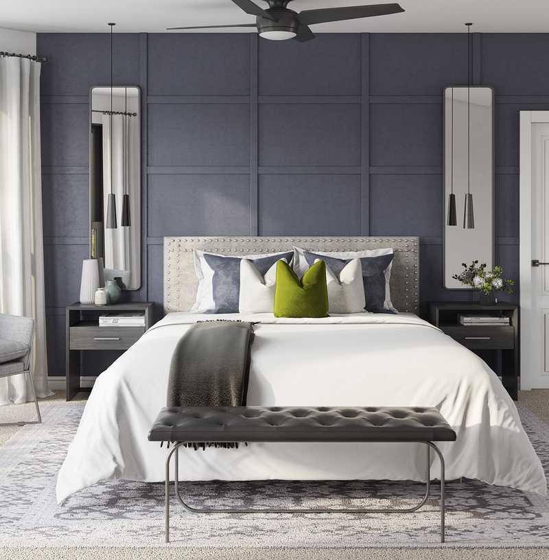 Modern, Minimal, Scandinavian Bedroom Design by Havenly Interior Designer Madison