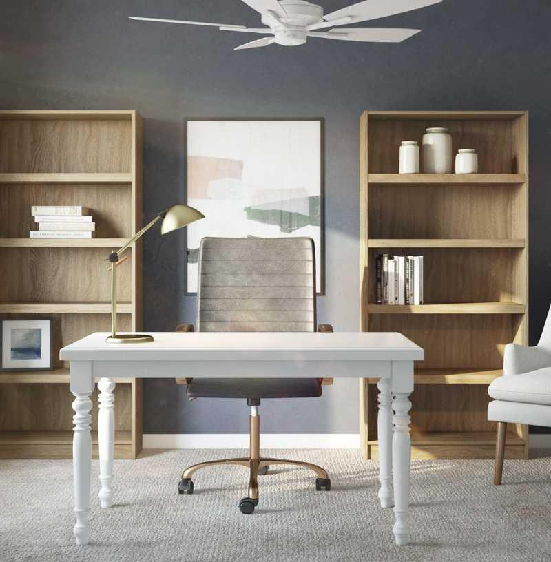 Modern, Classic, Midcentury Modern Office Design by Havenly Interior Designer Mariel